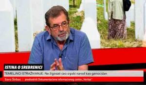 Savo Štrbac o Srebrenici, Bihaću i Oluji kroz poruke Pitera Galbrajta, 26.7.2021. Foto:Kurir televizija screenshot