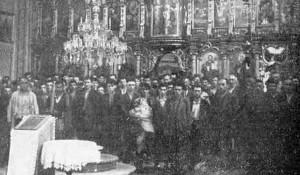 Glina: Fotografija Srba u glinskoj Crkvi Presvete Bogorodice, pre pogubljenja 1941. godine Foto: Vikipedija