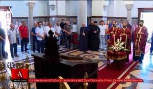 Banjaluka: Parastos u Crkvi Hrista Spasa za Krajišnike stradale 1995. Foto: ATV BL, screenshot