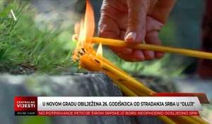 U Novom Gradu i Svodni obilježena 26. godišnjica od stradanja Srba u Oluji Foto: ATV BL, screenshot
