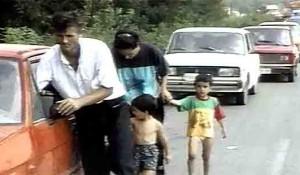 Oluja: Kolona 1995. Foto: RTV, Tanjug