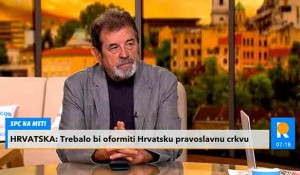 Savo Štrbac i Jovan Janjić o obnavljanju hrvatske pravoslavne crkve, Pavelićevog projekta iz 1992. godine Foto: Kurir TV, screenshot