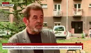 Savo Štrbac o popisu stanovništva u Hrvatskoj i nasrtajima na Srbe da se izjasne kao Hrvati, 17.9.2021. Foto: Televizija Vesti, screenshot