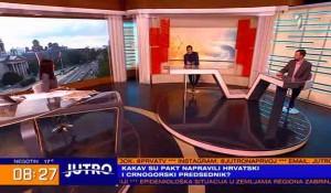 """Susret Đukanovića i Milanovića zbog """"velikosrpske hegemonije"""" i opasnosti od SPC, 18.9.2021. Foto: TV Prva, screenshot"""