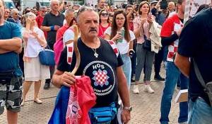 """Na hrvatskom """"Festivalu slobode"""" se okupili desničari, neonacisti i antivakseri, a neki su došli i sa ustaškim obeležjima, 18.9.2021. Foto:Index.hr"""