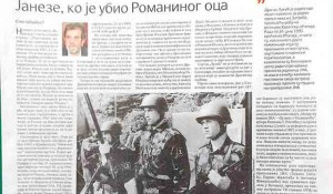 Savo Strbac: Janeze, ko je ubio Romaninog oca Foto:scan, fp